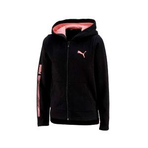 girls hooded full-zip fl Zwart
