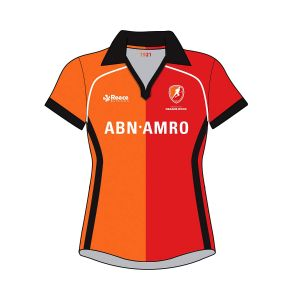 clubshirt oranje-rood club polo women home oranje-rood thuis